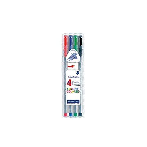 Staedtler Fineliner Triplus - Bolígrafo de punta fina Staedtler - Caja (0,3 mm, 4 colores)