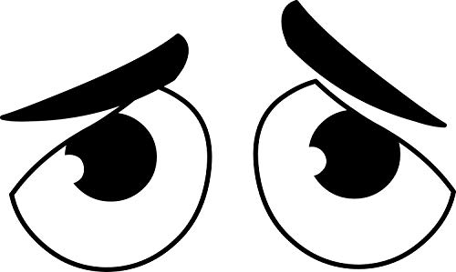 Aufkleber Augen-Paar für Saugroboter Mähroboter Auto I traurig schwarz I selbstklebend I Spaßartikel I Dekorativ I Lustig I wetterfest I kfz_542