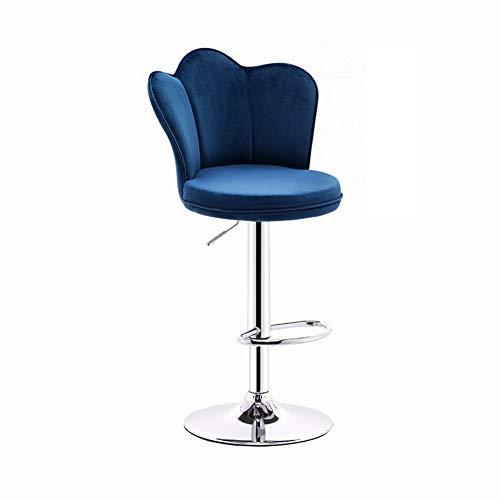 QIDI Tabouret De Bar Contre-chaises Dossier Réglable en Hauteur Antidérapant pour Accueil Cuisine Table À Manger Café Bar (Couleur : Bleu)