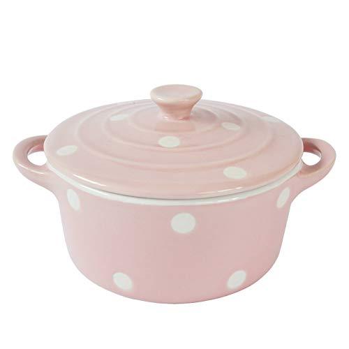 Isabelle Rose - IR5489 - Keramik Butterdose/Mini Backform - rot mit weißen Herzen
