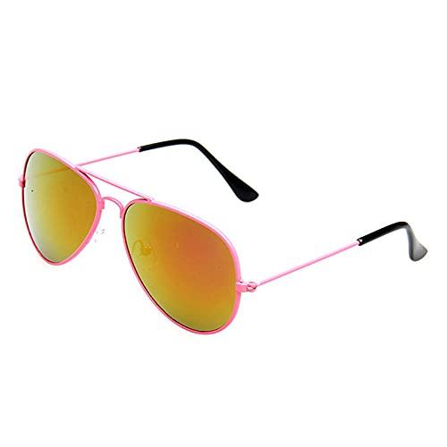 WQZYY&ASDCD Gafas de Sol Gafas De Sol De Aviador A La Moda Uv400-Rosa