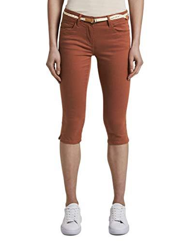 TOM TAILOR Pantalones Alexa para mujer. Dark Goji Orange 46