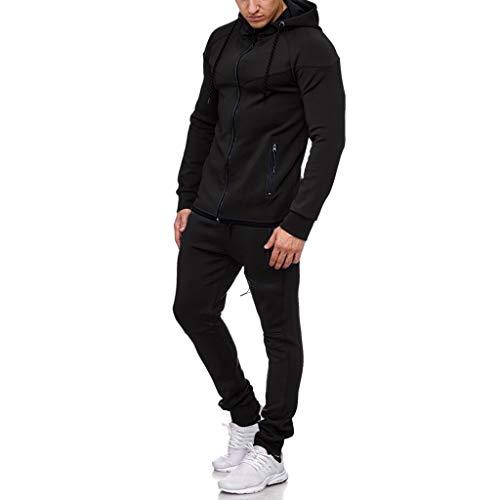 OUICE 2019 Hiver New Nouveau Ensemble Sports Hommes Survêtement à Capuche Sweat-Shirt Zippée Pantalons Dégradé Impression Casual Slim Running Casual Sport Suit Tops Hoodie
