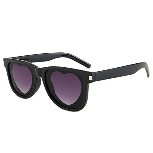 CNBKMG New Personality Square Sunglasses Women Love Heart-Shaped Ladies Brand Design Cute Punk Glasses-Purple