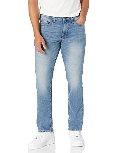 Amazon Essentials Men's Slim-Fit Stretch Jean, Light Wash, 36W x 30L