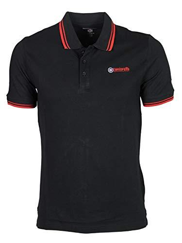 Lambretta Herren Freizeit-Hemd Gr. UK M, schwarz / rot