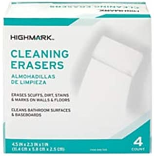 Highmark Multi-Purpose Cleaning Erasers, 0.08 Oz, Pack of 4