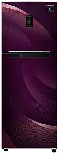Samsung 314 L 2 Star Inverter Frost-Free Double Door Refrigerator (RT34T46324R/HL, Rythmic Twirl Red, Convertible)