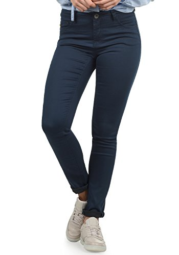 DESIRES Lala Damen Jeans Denim Hose Röhrenjeans Stretch Skinny Fit, Größe:W28/30, Farbe:Insignia Blue (1991)