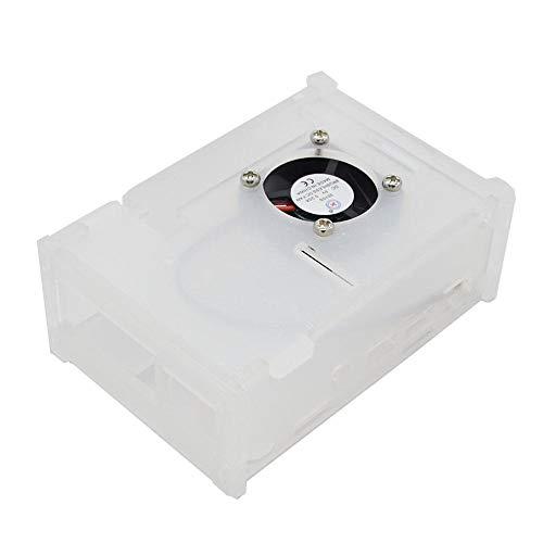 RLJJCS1163 Caja de gabinete de Caja de acrílico de Descarga con Kit de Ventilador de refrigeración for RPI 4 Modelo B