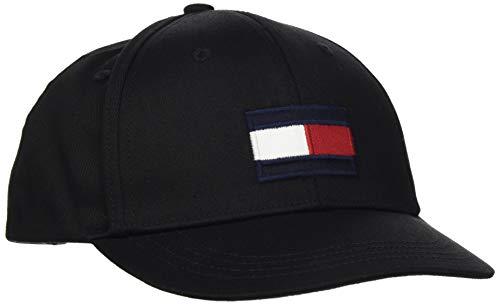 Tommy Hilfiger Unisex Kinder Big Flag Cap Hut, Schwarz, Medium