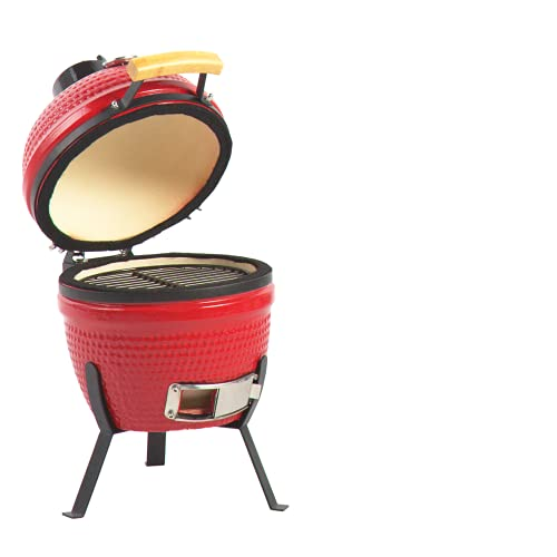 """Aoxun 13"""" Kamado Grill, Roaster and Smoker. BBQ Grill,Multifunctional Ceramic Barbecue Grill, Egg Outdoor Kitchen Style"""