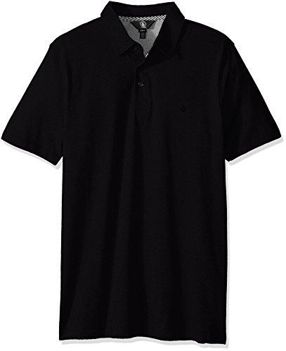 Volcom Men's Wowzer Modern Fit Polo, Black, Medium