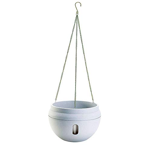 Sungmor Bowl Shapped Garden Self Watering Hanging Planter, Strong Plastic Flowerpot,Creative Water Storage & Release Planter Pot,Indoor Outdoor Decorative Planting Pot