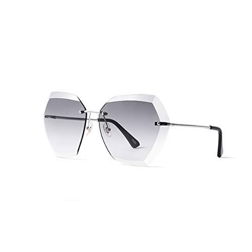 LDH Gafas de Sol Polarizadas, Marco Redondo, Cara Grande, Gafas de Sol Masculinas Y Femeninas, Lentes De Nylon, Gafas De Sol De Metal Ligero UV400 (Color : B)