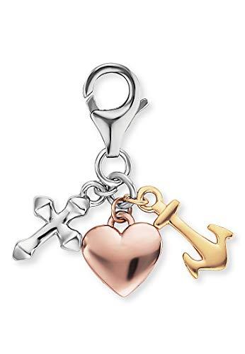 Engelsrufer Damen-Charm Charm Glaube, Liebe & Hoffnung 925er Silber One Size 87928403