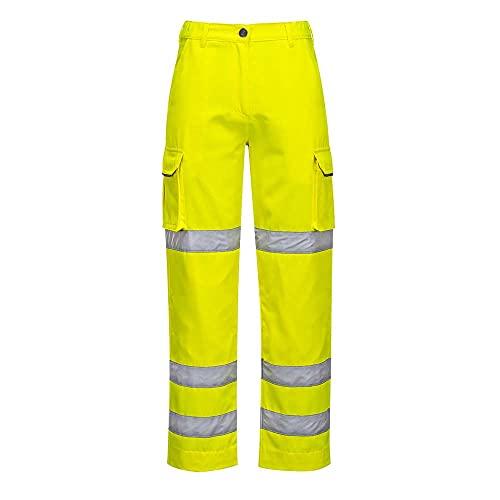 Portwest LW71 Pantalone Donna Alta Visibilità, Giallo, S