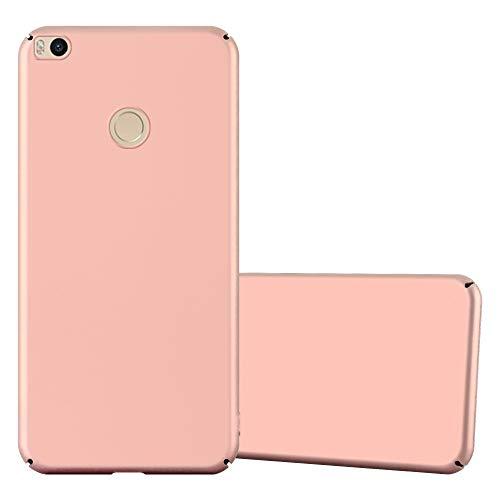 Cadorabo Funda para Xiaomi Mi MAX 2 en Metal Oro Rosa - Cubierta Protección de Plástico Duro Super Delgada e Inflexible con Antichoque - Case Cover Carcasa Protectora Ligera