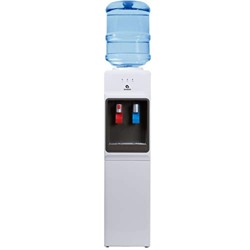 Avalon A1WATERCOOLER A1 Top Loading Cooler Dispenser, Hot & Cold Water, Child Safety Lock, Innovative Slim Design, Holds 3 or 5 Gallon Bottles - UL/Energy Star Approved, White,