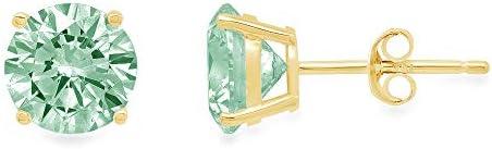 0 44cttw Brilliant Round Cut Solitaire Fine Genuine Light Sea Green Simulated Diamond CZ Unisex product image
