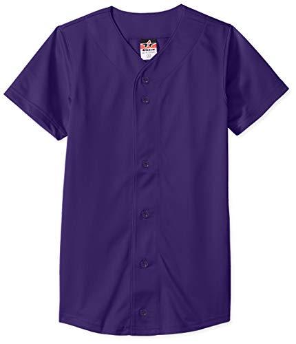 Alleson Athletic Baseball-Trikot, Unisex Mädchen, Baseball-Trikot, violett, Small