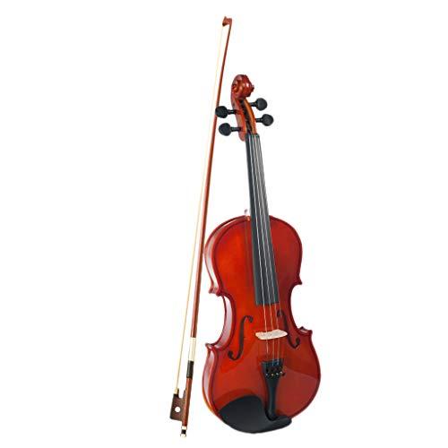 H HILABEE 1/8 Fiddle de Violn Brillante con Caja de Almacenamiento Estudiantes Nios de 4-5 Aos