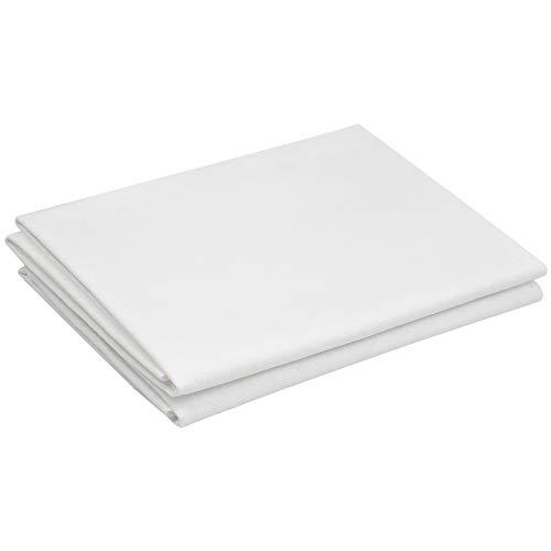 2 Piezas Tela de Bordado, Tela de Punto de Cruz de Costura, Blanco Tela de Lino, Lienzo de Bordado Blanco para Manualidades de Bordado, Prendas y Manteles, 50 cm x 70 cm