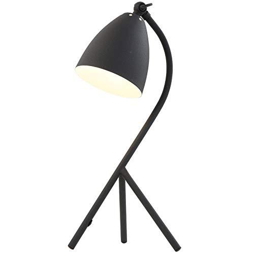 Tischleuchte Peters-Living 3766952 Schreibtischlampe Schwarz Vintage E14 Büro