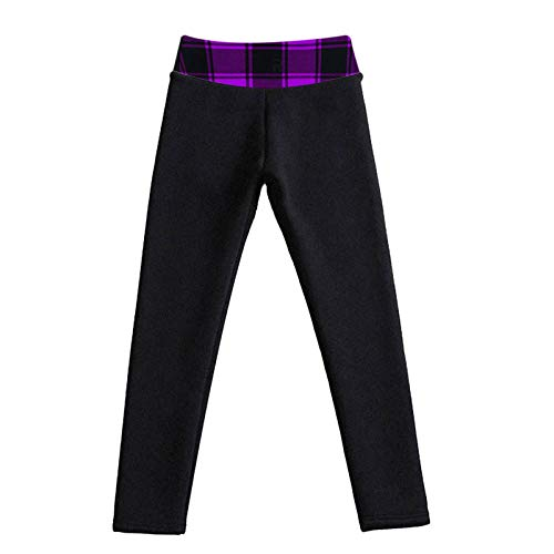 Baiomawzh - Leggings con forro polar de cintura alta para mujer, cálidos, con forro, para otoño e invierno, térmicos, elásticos, térmicos, de felpa, para el tiempo libre, leggins térmicos