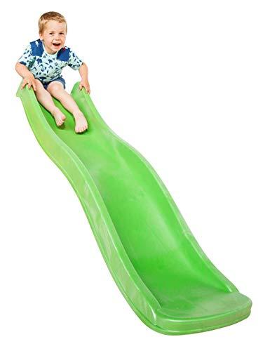 Demmelhuber Kinderrutsche Wave 1,75 m mit Wasseranschluss für Spielturm Wellenrutsche Gartenrutsche Kinderrutsche Anbaurutsche Wasserrutsche