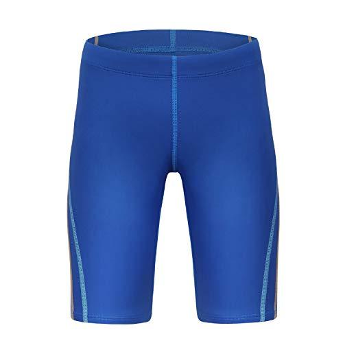 BELE ROY Kids Swim Jammers Boys Competitive Swim Team Suit UPF 50+ Blue L