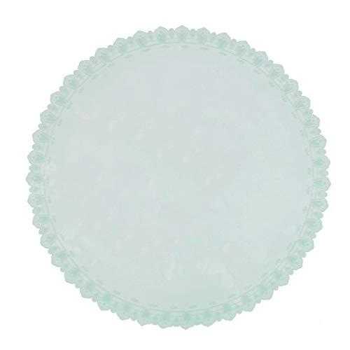 1 pièce de 22,5 cm de diamètre de qualité alimentaire pour conserver la fraîcheur des aliments réutilisables en silicone haute élasticité, couvercle étirable sous vide, vert