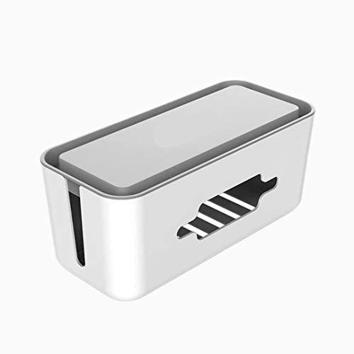 MAOXI 1 STK. Cable Organizer Case Feuerfeste Aufbewahrung USB Charger Socket Manager Box mit Telefonhalter