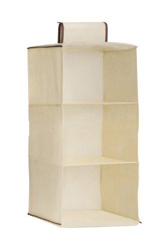 Premier Housewares - Zapatero para Colgar (3 Compartimentos), Color Beige