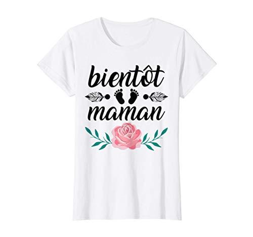Femme Maman 2021 Idée Cadeau Maman Humour Femme Enceinte Grossesse T-Shirt