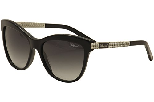 Chopard - SCH189S, Cat eye, acetato/metal, mujer, BLACK/GREY SHADED(0700 F), 55/17/130