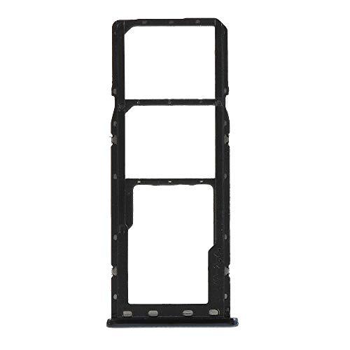 Try Vassoio alloggio porta scheda nano Sim1+ SIM 2 + SLOT SLITTA Alloggio Memoria Micro Sd TRAY CARD COMPATIBILE PER SAMSUNG GALAXY A7 2018 A750 SM-A750F (NERO)