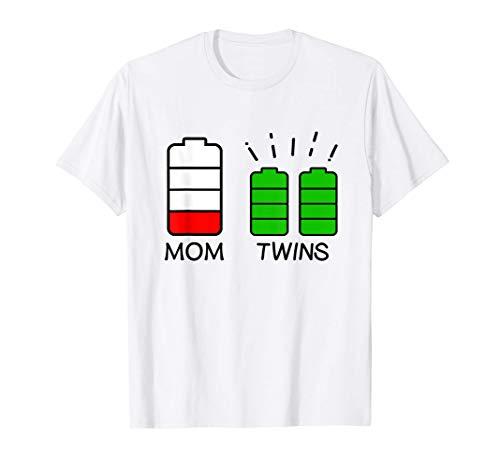 Madre gemela Batería baja Batería cansada Madre de gemelos