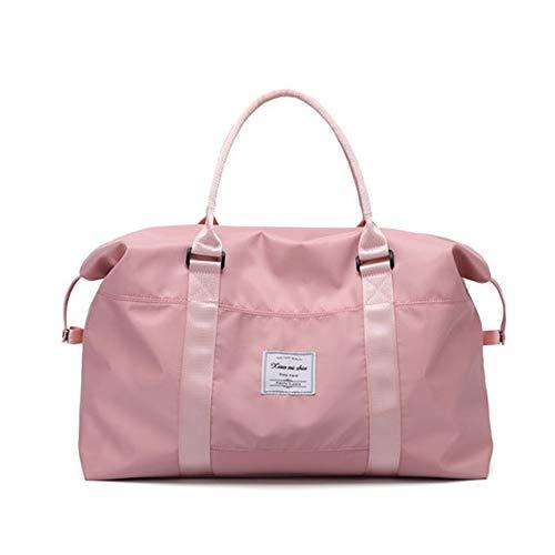 Roze reistas, sporttas van hoge kwaliteit, duurzaam, waterdicht met schoenenvak voor dames en heren, schouder