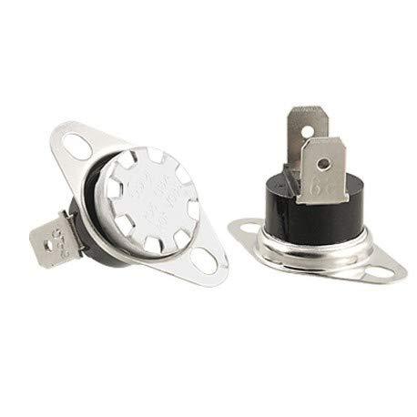 Bimetall Thermostat mit Flansch 120 °C 10 A bei 230 V AC für CLAM, ECOFOREST, EDILKAMIN