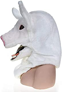 Masks Carnival Holiday Party mask Little Black Pig Imitation Animal mask Halloween and Party Accessories Furry Animal Masks ( Color : White )