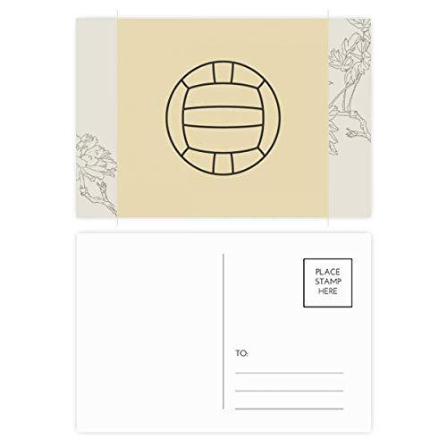 DIYthinker Volleyball Sport Line Zeichnung Muster Blume Postkartenset dankt Karte Mailing Side 20pcs 5.7 Zoll x 3.8 Zoll Mehrfarbig