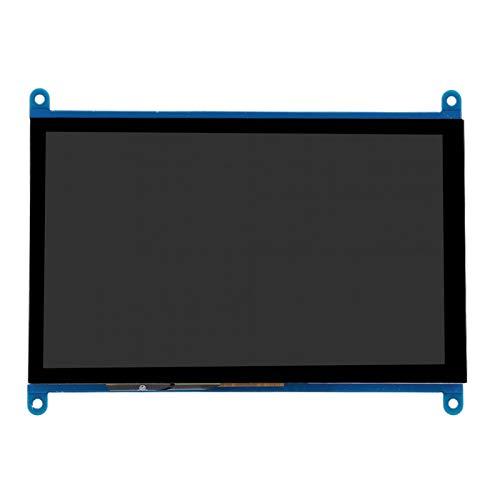 Archuu 7-Zoll-Bildschirm, tragbarer 1024 x 600 P HD IPS-Schalter mit Hintergrundbeleuchtung USB-Treiberfreier Netzteilbildschirm für Raspberry Pi