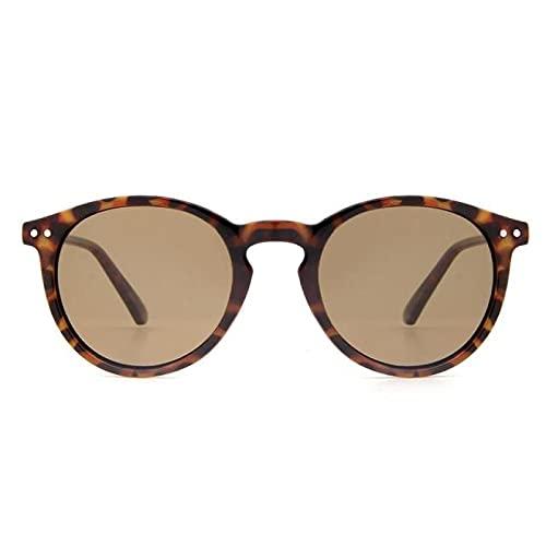 Yetier Gafas de Sol, Gafas de Sol polarizadas de Moda para Mujer con Marco Retro Redondo UV400