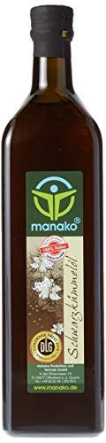 manako Schwarzkümmelöl human, kaltgepresst, 100% rein, 1000 ml Glasflasche (1 x 1 l)
