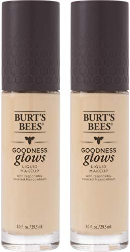 Burts Bees Goodness Glows Liquid Makeup, Ivory- 1.0 Ounce (Pack of 2)