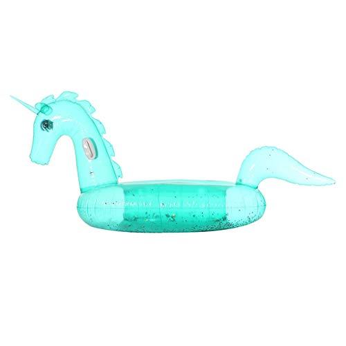 Lentejuelas integradas, Flotador de Piscina Unicornio Inflable, flotadores de Playa, Juguetes de Fiesta de natación, Isla de Piscina, salón de balsa de Piscina de Verano for Adultos y niños