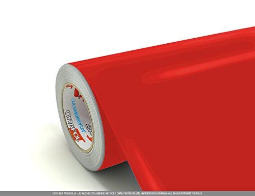 CLICKANDPRINT 3m Klebefolie, 63cm breit, Hellrot PR » Oracal 751 Premium Cast