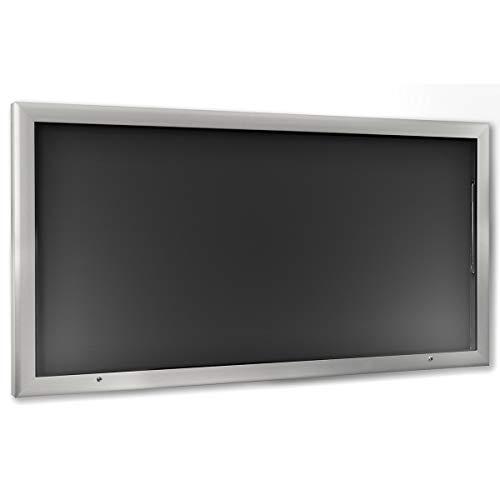 Vitrine d'affichage pour l'intérieur et l'extérieur - format horizontal - format extra-grand, l x h 2000 x 1025 mm, porte ouvrant à 90° vers le haut - panneau d'affichage panneaux d'affichage présentation support publicitaire vitrine murale vitrines