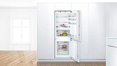 Bosch KIS77AFE0 Serie 6 Einbau-Kühlschrank mit Gefrierfach / E / 158 cm Nischenhöhe / 207 kWh/Jahr / 169 L Kühlteil / 62 L Gefrierteil / VitaFresh plus / LowFrost